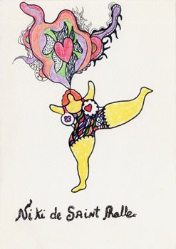 "Page de titre du livre de Niki de Saint Phalle ""Please give me a few seconds of your eternity"" aux  Editions de l'Amateur"